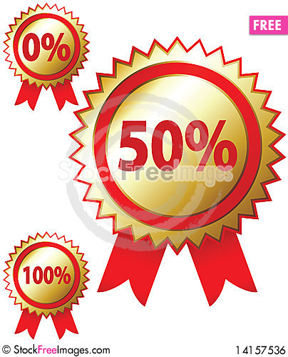 Free Sale Stickers Royalty Free Stock Image - 14157536