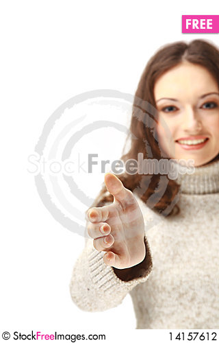 Free Female Offering You A Handshake Stock Photography - 14157612