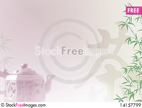 Free Chinese Tea Template Royalty Free Stock Images - 14157799