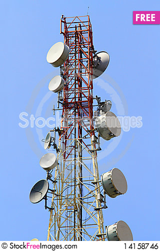 Free Telecommunications Tower Royalty Free Stock Image - 14158746