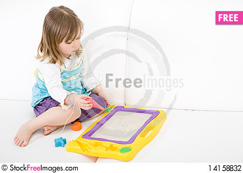 Free Little Girl Drawing Stock Photography - 14158832