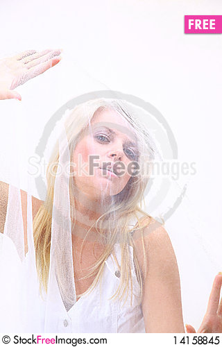 Free Young Woman Waving By Royalty Free Stock Photo - 14158845