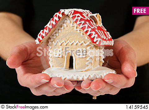 Free Gingerbread House Royalty Free Stock Photo - 14159545