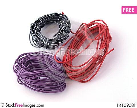Free Multicoloured Wire Stock Image - 14159581