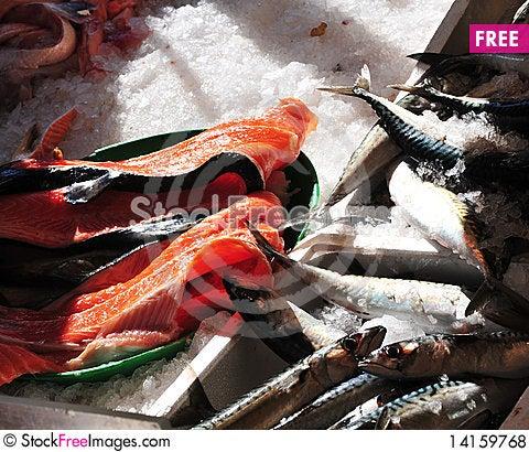 Free Fish Market Royalty Free Stock Photos - 14159768
