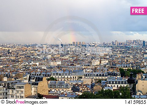 Free Montmartre - View Of Paris Royalty Free Stock Photo - 14159855