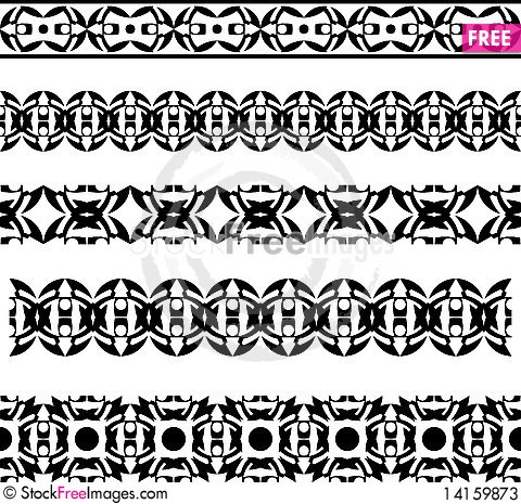 Free Set Of Architectural Patterns Stock Photos - 14159873