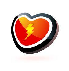 Free Heart Button Royalty Free Stock Photos - 14150038