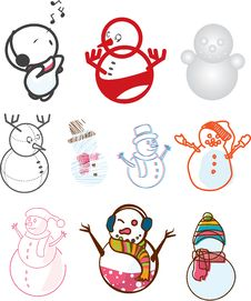 Free Cute Snowman Royalty Free Stock Photos - 14150058