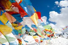 Free Prayer Flags And Blue Sky Stock Photo - 14150510