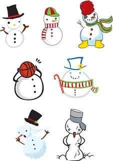 Cute Snowman Illustrations