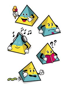 Free Pyramid-Shaped Cartoons Stock Image - 14151001