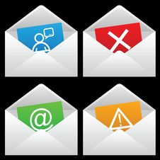 Free White Mail Envelopes Royalty Free Stock Photos - 14153038