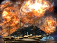 Free Young Volcano Being Born Stock Image - 14153171