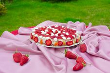Free Strawberry Pie Stock Photo - 14153910