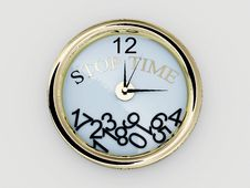 Clock With Numbers Have Fallen.Stop Time. 3D Stock Image