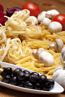 Cooking With Italian Ingredients Royalty Free Stock Image