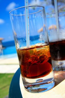 Cuba Libre Cocktelle In Caribbean Royalty Free Stock Photo