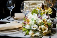 Free Decorated Table In The Restaurant Royalty Free Stock Image - 14154556