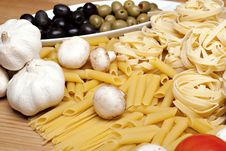 Free Cooking With Italian Ingredients Stock Photography - 14154612