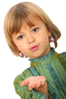 Little Charming Girl Royalty Free Stock Photo