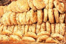 Biscuits With Cracklings Royalty Free Stock Photography