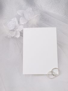 Free White Card For Congratulating Royalty Free Stock Photo - 14156125