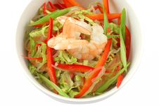 Salad With Shrimps Stock Images