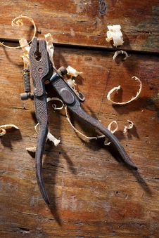 Old Hand Pliers Royalty Free Stock Photos
