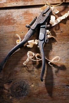 Old Hand Pliers Stock Photo