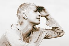 Free Looks Into The Distance Royalty Free Stock Image - 14157506