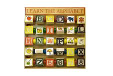 Alphabet Blocks; Learn The Alphabet Royalty Free Stock Image