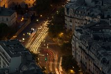 Night Intersection Stock Images