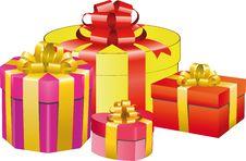 Free Gift Box Set Stock Images - 14159714
