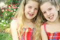 Free Twin Sisters Together Stock Image - 14161091