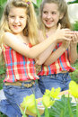 Free Happy Sisters Outside Royalty Free Stock Photo - 14161255