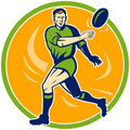 Free Rugby Player Running Passing Stock Photos - 14162323