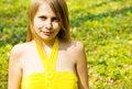 Free Girl Smiling In Sunny Spring Field Stock Photo - 14162700