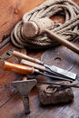 Free Vintage Woodworking Tools Royalty Free Stock Image - 14166826
