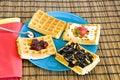 Free Freshly Made Waffles Royalty Free Stock Photography - 14167847