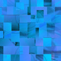 Free Blue Background Of The Rectangles Royalty Free Stock Photography - 14168187