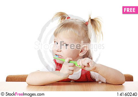 Free Child With Toothbrush Stock Photo - 14160240