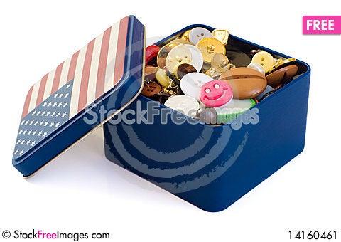 Free Button Box Stock Image - 14160461