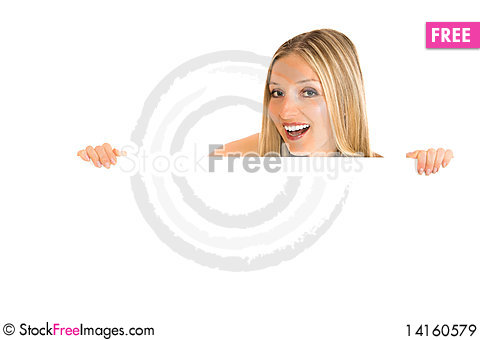 Free Woman And White Board Royalty Free Stock Images - 14160579