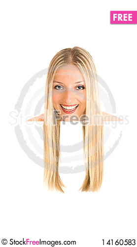 Free Woman And White Board Stock Photos - 14160583