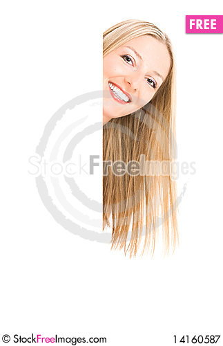Free Woman And White Board Royalty Free Stock Photography - 14160587