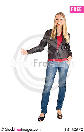 Free Woman In Leather Jacket Stock Photo - 14160670