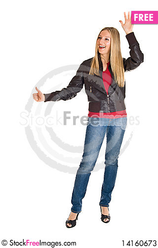 Free Woman In Leather Jacket Stock Photos - 14160673