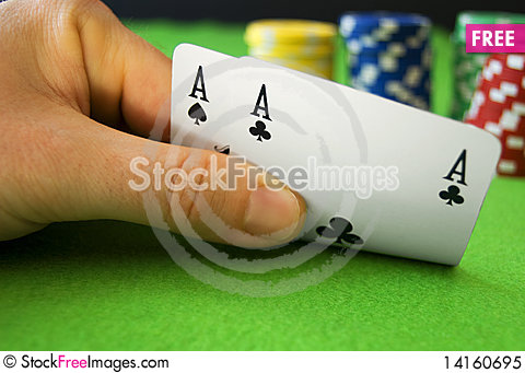 Free Aces And Chips Royalty Free Stock Photo - 14160695