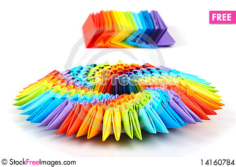 Free Origami Rainbow 3d Stock Images - 14160784